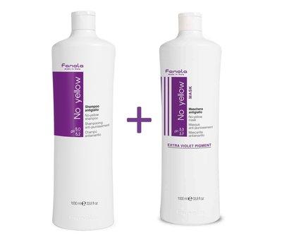Fanola No Yellow Shampoo & Mask Set - 2x1000ml