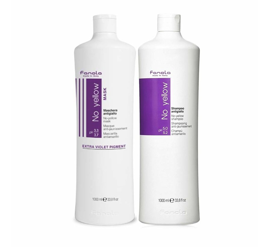 No Yellow Shampoo & Mask Set - 2x1000ml