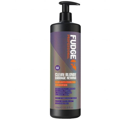 Fudge Clean Blonde Damage Rewind Violet Shampoo - 1000ml