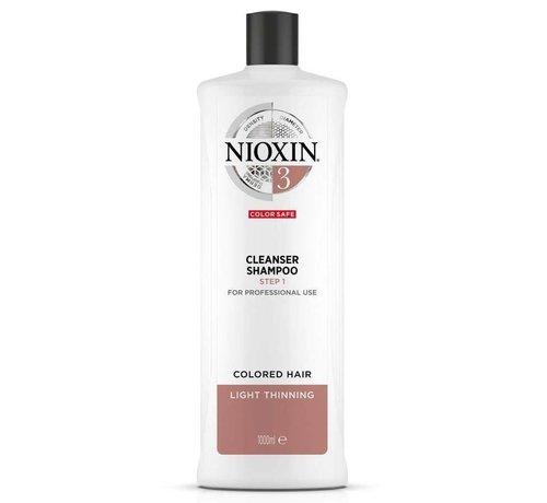 Nioxin System 3 - Shampoo / Reiniger - 1000ml