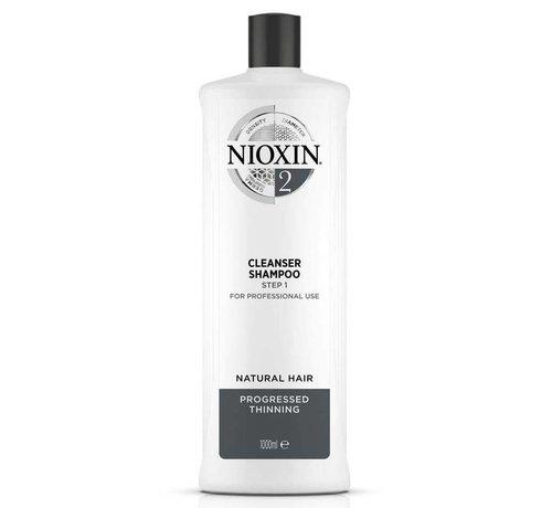 Nioxin System 2 - Shampoo / Reiniger - 1000ml