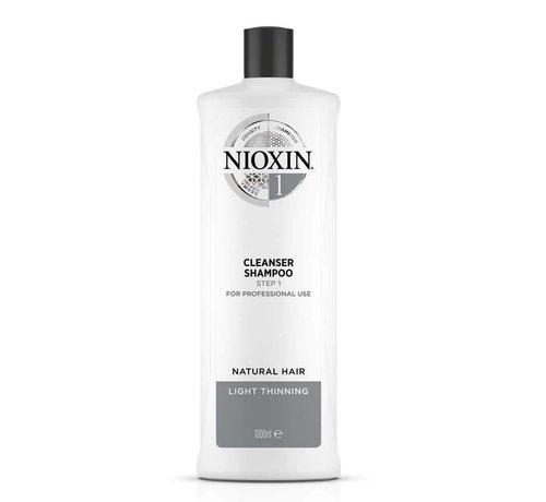 Nioxin System 1 - Shampoo / Cleanser - 1000ml