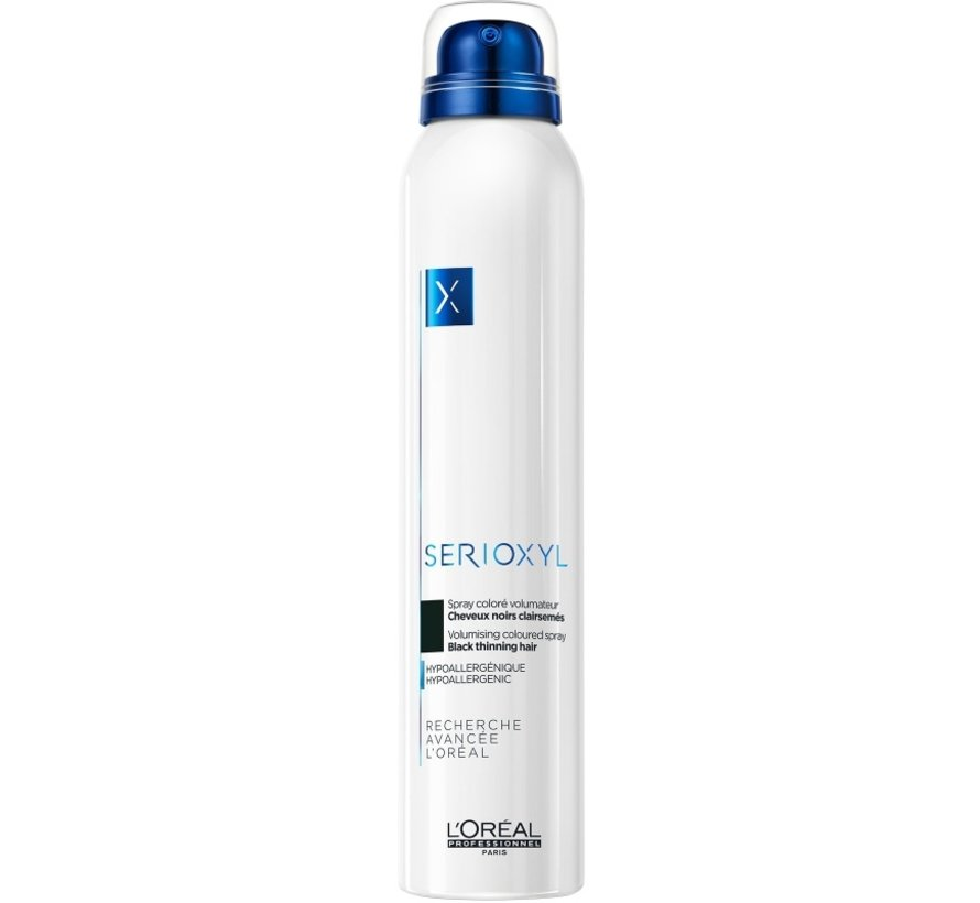 Serioxyl Volumising Coloured Black Spray - 200ml