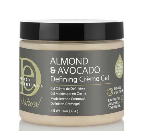 Design Essentials Natural Almond & Avocado Curl Defining Creme Gel - 473ml