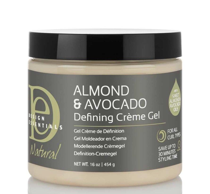 Natural Almond & Avocado Curl Defining Creme Gel - 473ml