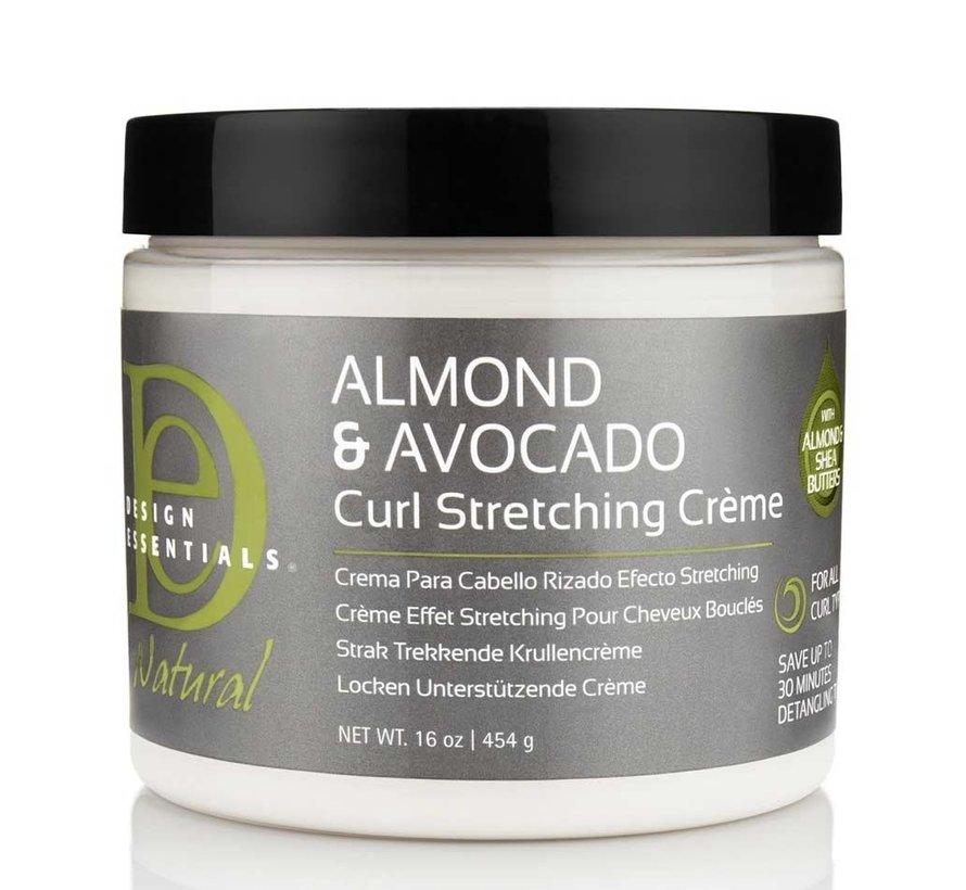 Natural Almond & Avocado Curl Stretching Cream - 473ml