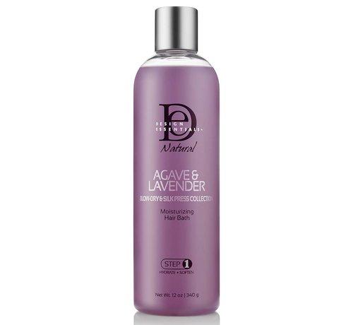 Design Essentials Agave & Lavender Moisturizing Hair Bath Shampoo - 340gr.