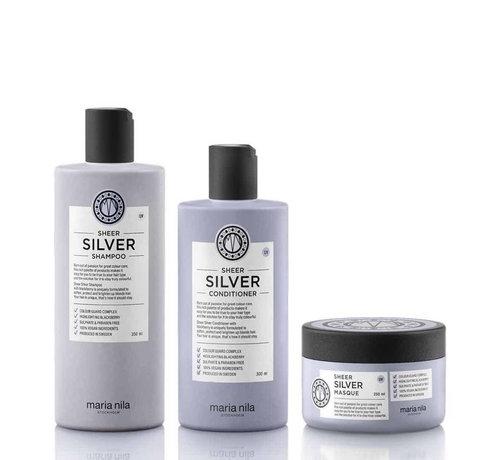 Maria Nila Sheer Silver Luxury Set