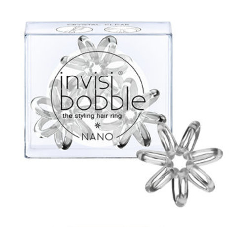 Invisibobble Traceless Hair Ring Crystal Clear - Nano  - 1x3st.