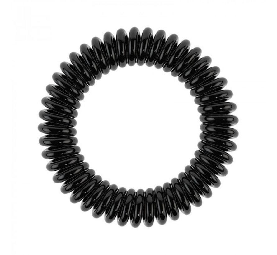Traceless Hair Ring True Black - Slim  - 1x3st.