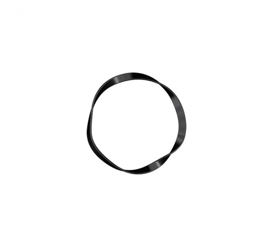 Traceless Hair Ring True Black - Basic
