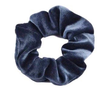 Scrunchie Velvet Gray/Blue