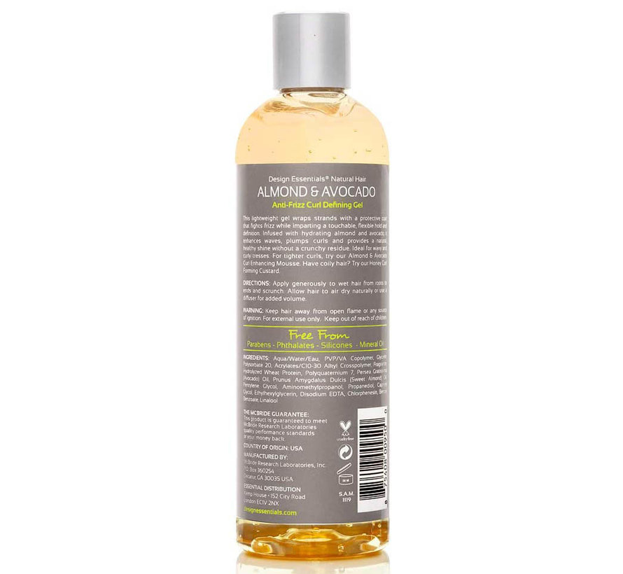 Natural Almond & Avocado Anti Frizz Curl Defining Gel - 345gr.