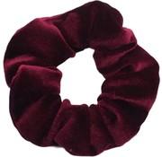 Scrunchie Velvet Bordeaux Red