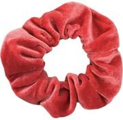 Scrunchie Velvet Coral Red