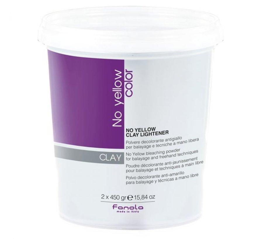 No Yellow Clay Lightener Blondeerpoeder - 2x450gr