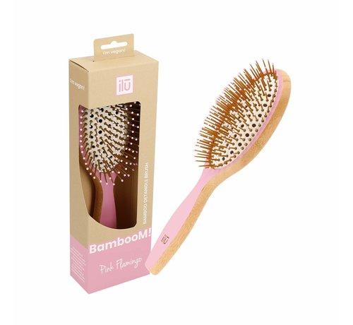 Bamboom Detangler Pink Flamingo Hairbrush - Large