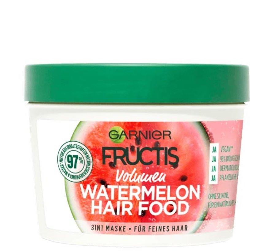 Fructis - Watermelon Hair Food Volume Mask - 390ml