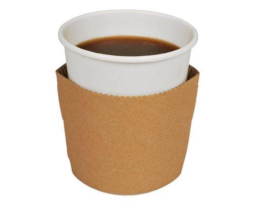 Koffiebekers.nl Kartonnen Beker Sleeves - 1000 stuks