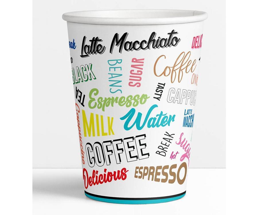 Koffiebekers.nl Koffiebeker Words - Goedkope koffiebeker
