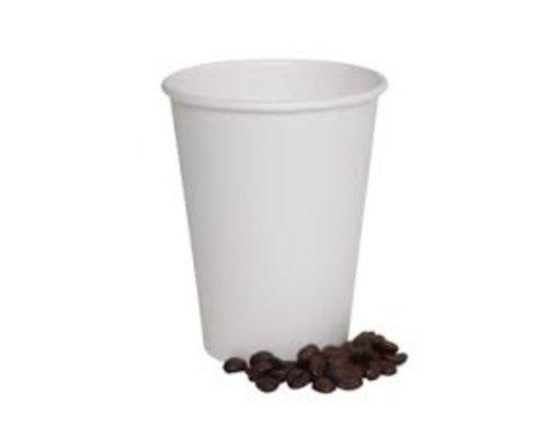Koffiebeker to Go wit - 200ml - eigen import