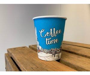Koffiebeker 200ml - bedrukt in 4 kleuren