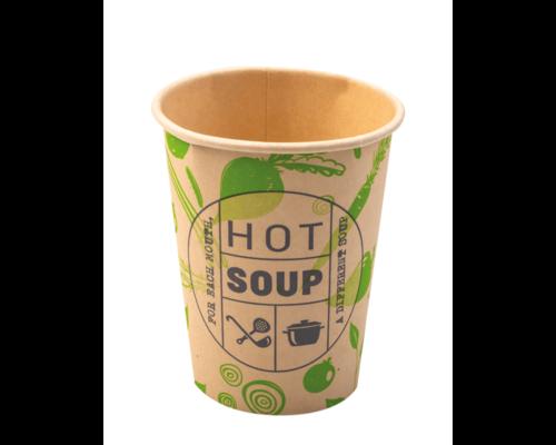 Koffiebekers.nl Soepbeker 250ml Karton - Hot Soup