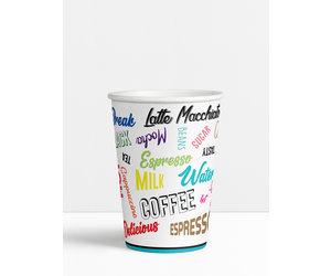 Koffiebekers.nl Koffiebeker Words - 150ml - 6oz