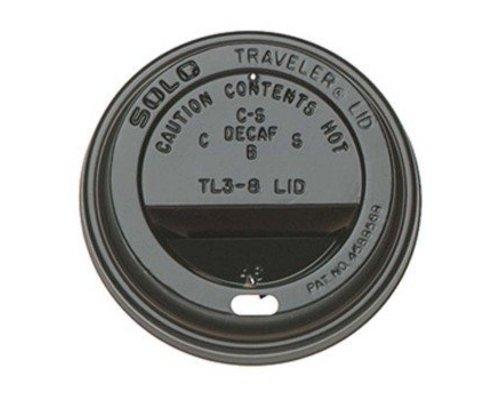 Koffiebeker Deksel - 90mm - Zwart