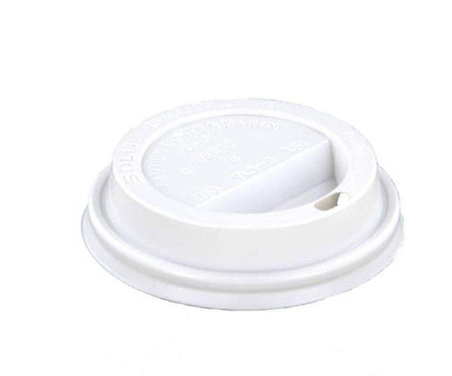 Koffiebeker Deksel - 80mm - Wit