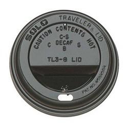 Koffiebeker Deksel - 80mm - Zwart