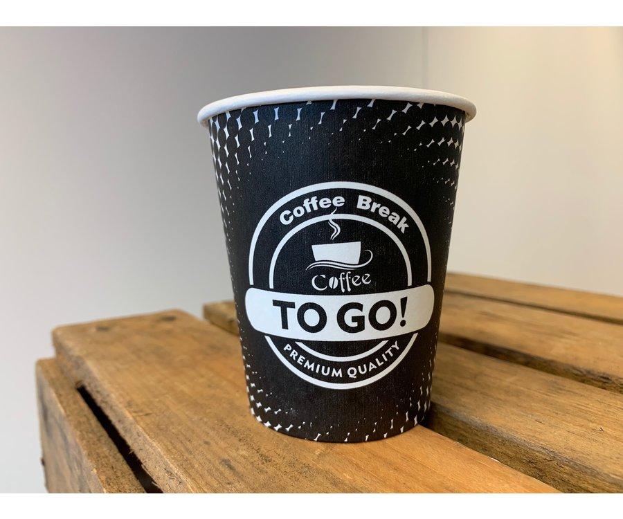 Koffiebekers 200ml - Full Colour bedrukt