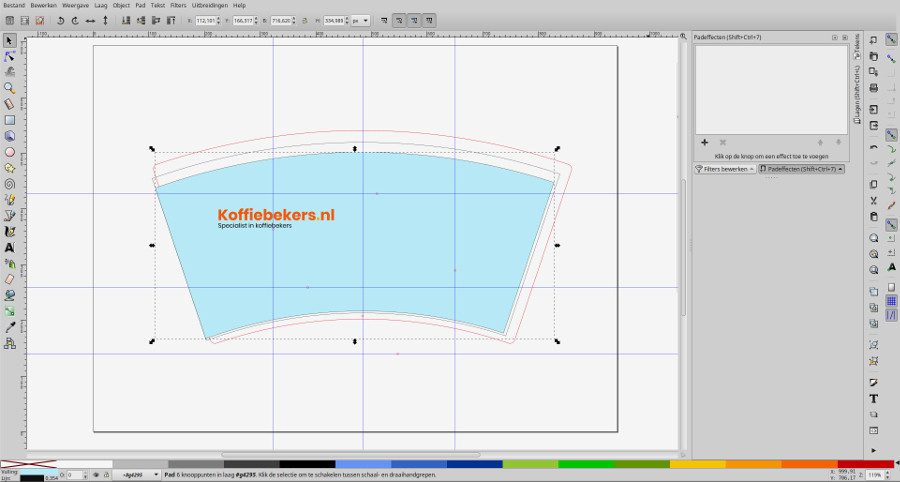 achtergrondkleur ontwerp beker