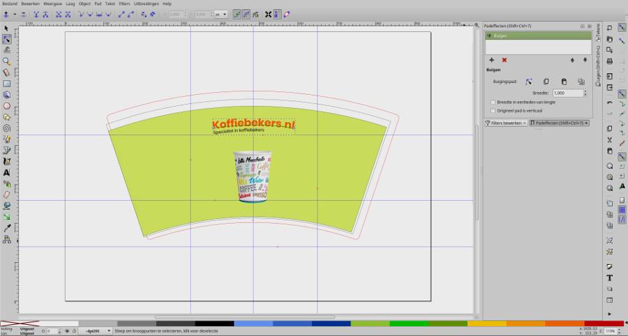 screenshot ontwerp buigen