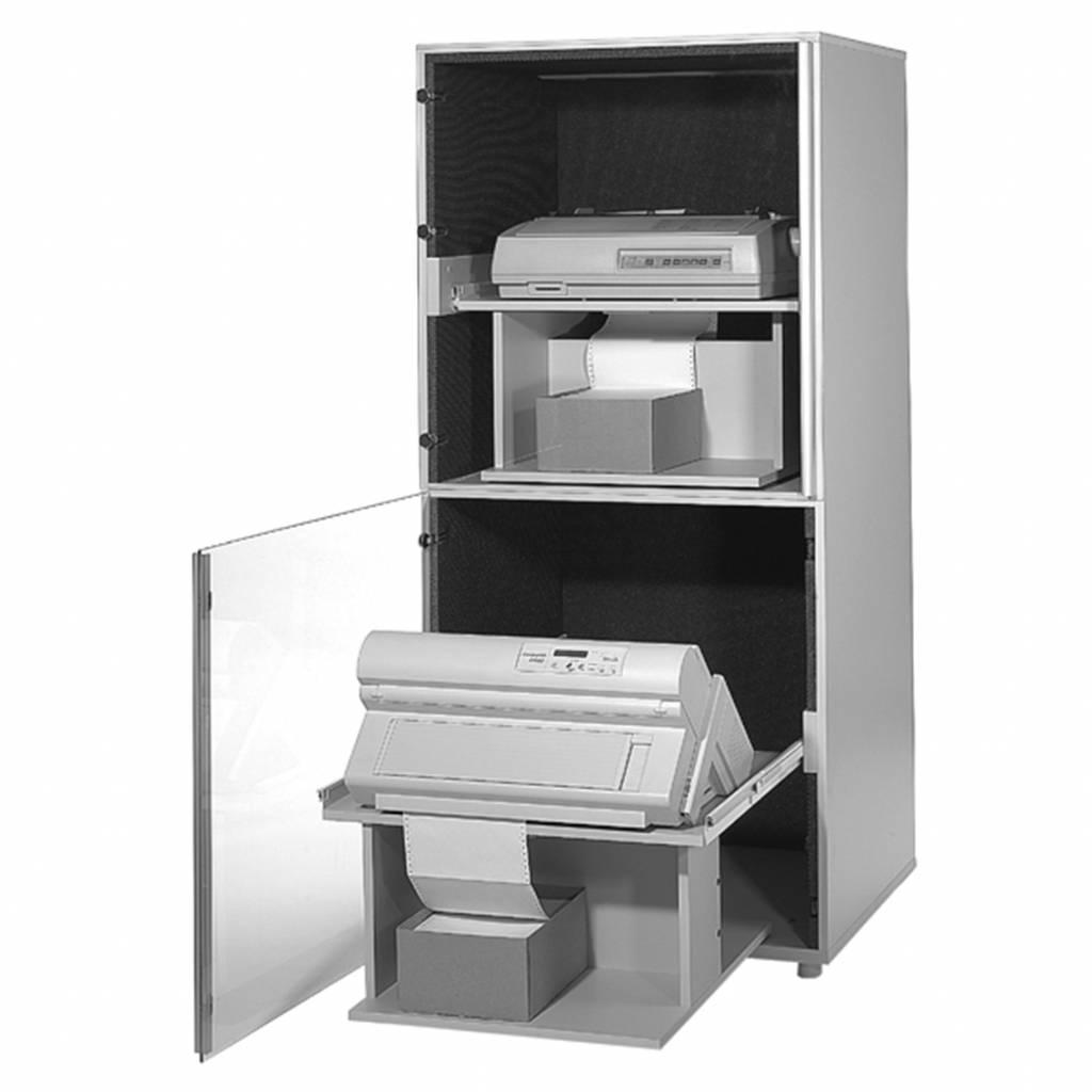 Geluiddempende printerkast voor 2 printers