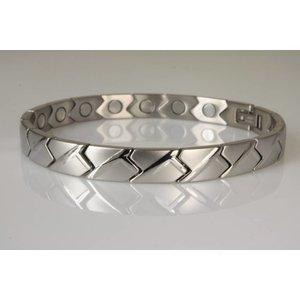 8122S Magnetschmuck Armband für Damen im Stil Silber