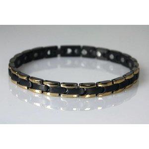 "8061BG Damen Armband ""Schwarz-Gold"""