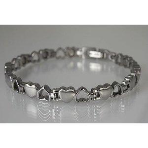 8232S Damen Armband in Herzform Silber