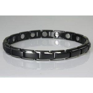8368BS-4 Extrastarkes Damenarmband Schwarz-Silber