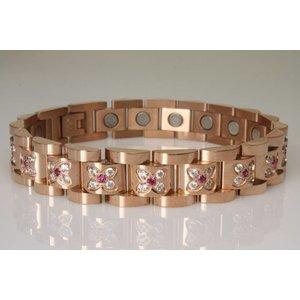 8024 Magnetschmuckarmband für Damen mit Zirkonia