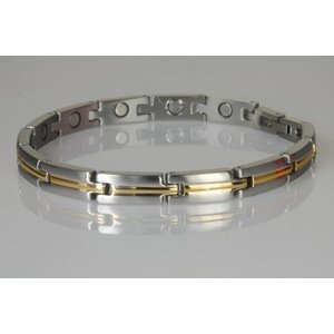 8071B Magnetschmuck Armband in bicolor