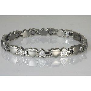 8232SZ Magnetschmuck Damenarmband Silber