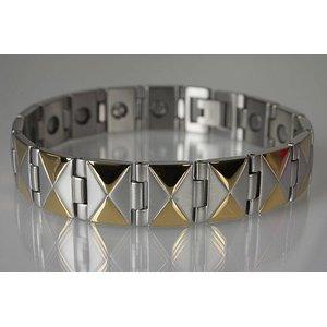 8318B Magnetschmuck Armband für Herren Bicolor