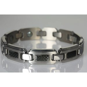 """8391H Magnetschmuck Armband """"Carbon"""" für Herren"""