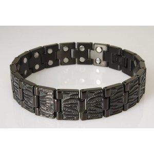 8485BL Magnetschmuck Armband für Herren in schwarz