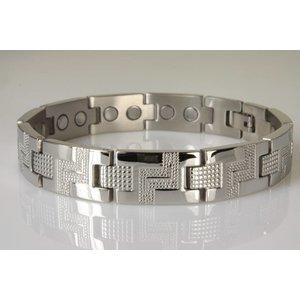 8788S Magnetschmuck Armband für Herren in Silber