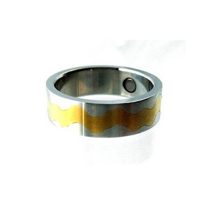 R158 Magnetschmuck Ring Bicolor