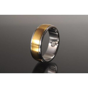 R3184 Magnetschmuck Ring Bicolor