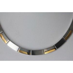 H9020B Damen und Herren Magnetschmuck Halskette bicolor