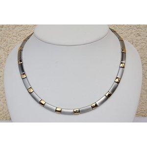 H9058G Magnetschmuck Halskette Silberfarben